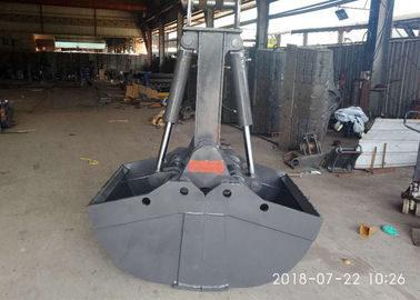 Professional Hydraulic Grapple Attachment , Hydraulic Grab Bucket  Double Cylinders